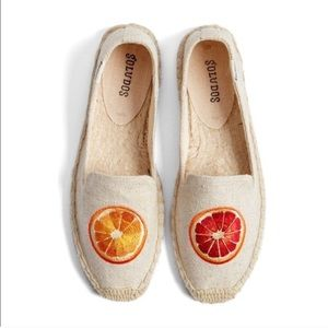 Anthropologie Orange Slipper Embroidery Espadrille